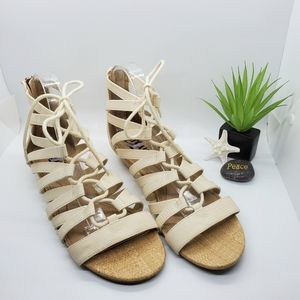 Circus Sam Edelman Cream Gladiator Sandals  Sz 9